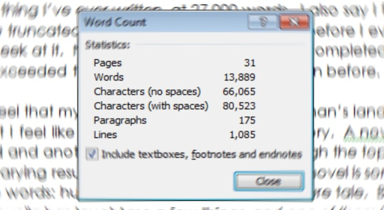 13 Little by Little...  Word Counts