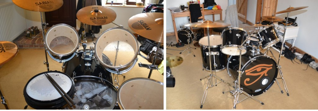 Left: drumseat perspective Right: front view