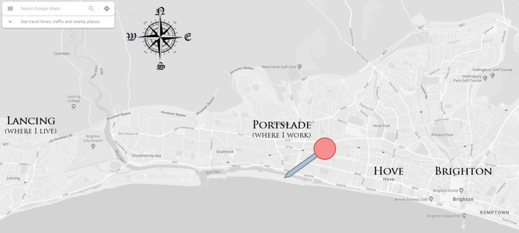 map of brighton and portslade basin road